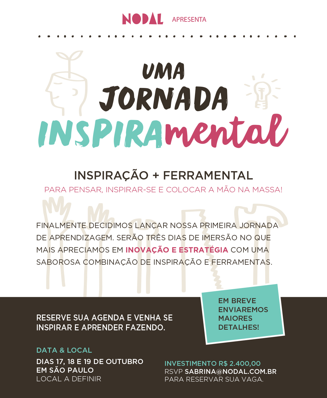Jornada Inspiramental SAVE THE DATE